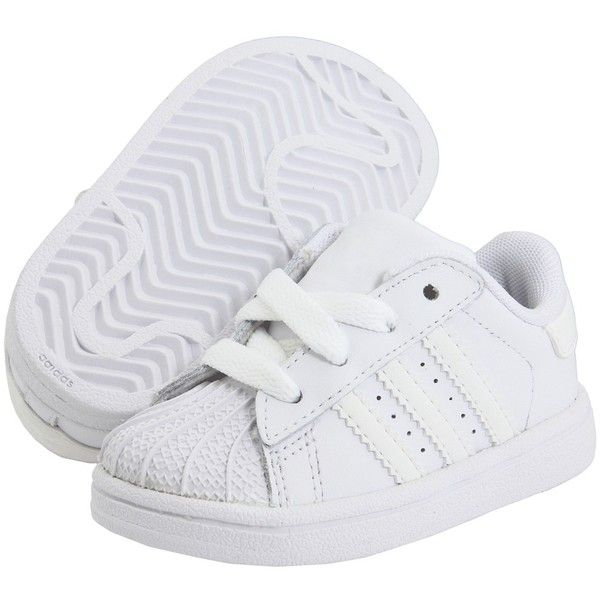 Adidas Kids Superstar 2 Core (Infant/Toddler) ($36) ❤ liked on Polyvore featuring baby, baby boy, baby shoes, baby stuff and kids