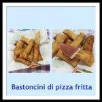 Bastoncini di pizza e prosciutto crudo