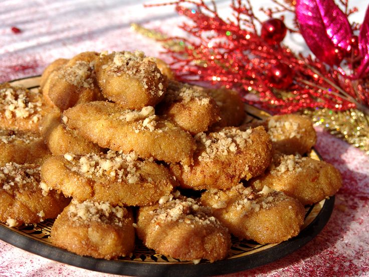 ... (aka Finikia) Greek Syrup & Spice Cookies, Honey & Orange Cookies