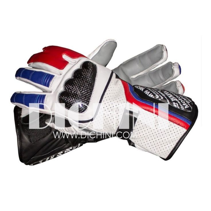 Leon Haslam BMW Motorrad 2011 Race Leather Gloves | Dichini | Pinterest