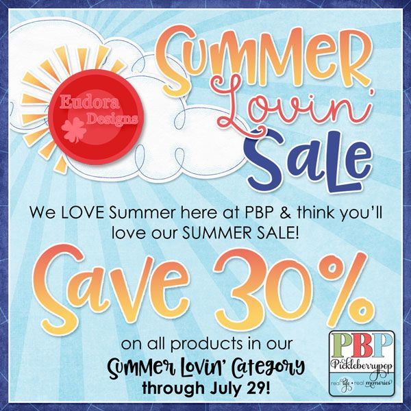 Summer Lovin' Sale by Eudora Designs! Collection 50% OFF, individual packs 30% OFF https://www.pickleberrypop.com/shop/home.php?cat=332