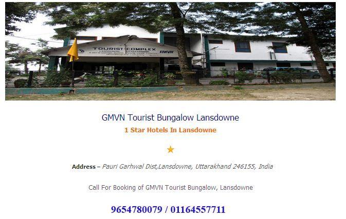GMVN Tourist Bungalow Lansdowne ----Hotelsinlansdowne.co.in