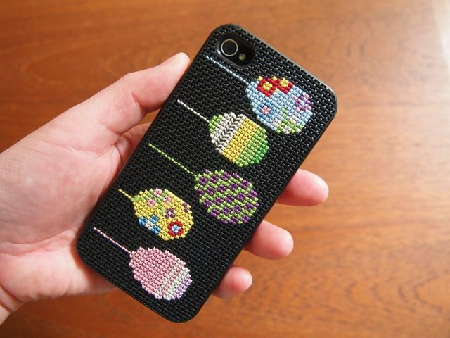 Cross Stitched iPhone cover. Made by me :)