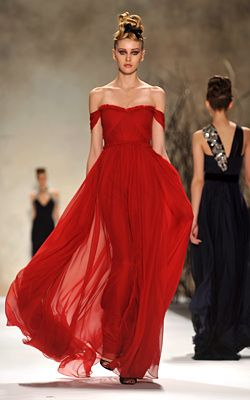 I would love to wear a red dress like this to prom or something c: - the red the off the shoulder!!