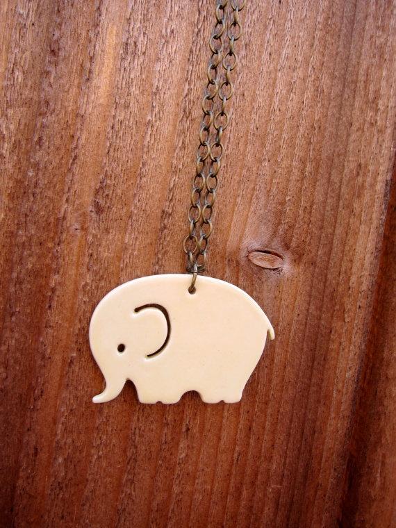 Cute elephant pendant   From etsy.com