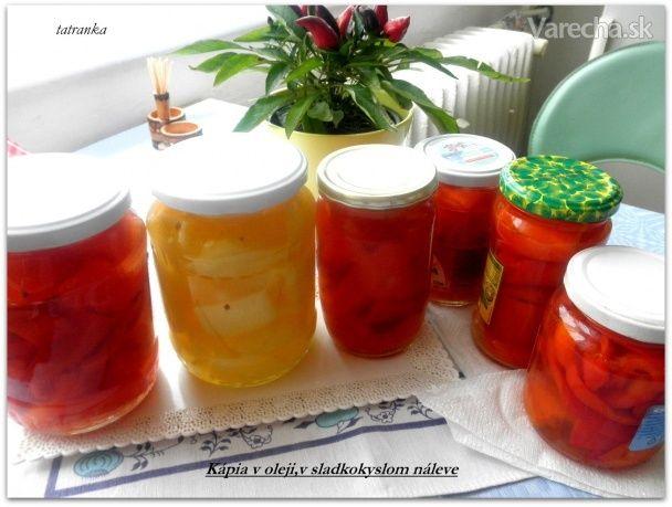 Kapia v oleji a sladkokyslom náleve bez sterilizácie (fotorecept)