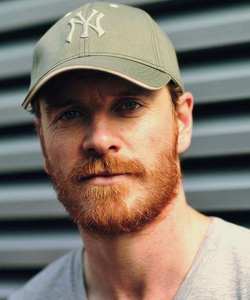 Michael Fassbender. Love that ginger beard
