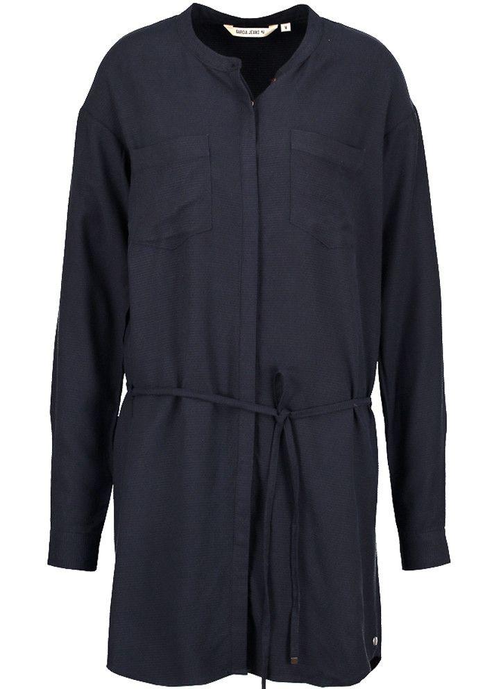 Garcia Skjorte blå U60086 Ladies Dress - dark navy – Acorns