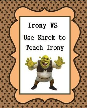 irony worksheet teaching with the movie shrek student the o 39 jays and movies. Black Bedroom Furniture Sets. Home Design Ideas