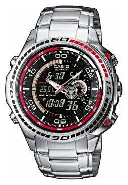 Необрит,+таймер+обратного+отсчета,+секундомер+с+памятью+до+50+кругов.,+дата,+календарь,+будильник,+термометр.+Часы+Casio+Edifice+EFA-121D-1A
