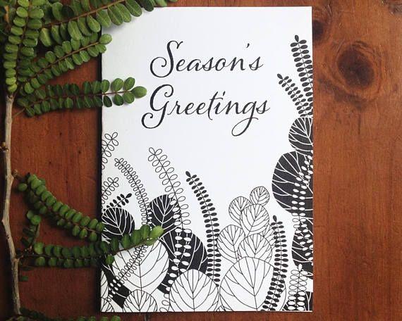 Printable Botanical greeting card Corokia Studio design