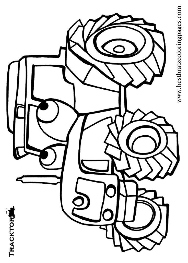 Tractor Colouring In Pages John Deere : 228 best kleurplaten voertuigen images on pinterest