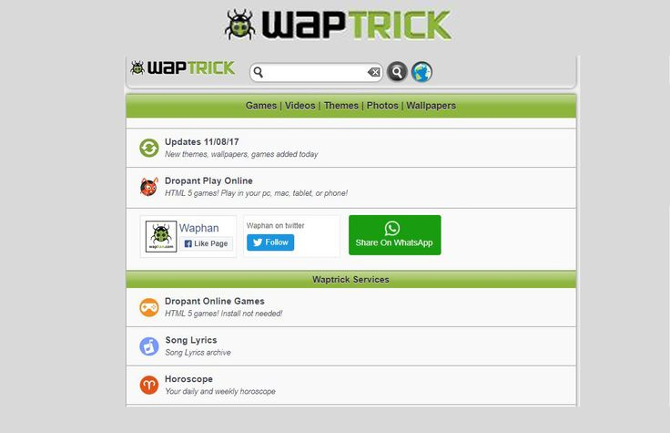 www.waptrick.com is the url to the mobile portal just for mobile files. like application, mp3 music download, funny videos animations, mp4 video download
