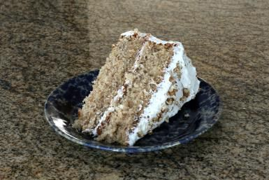 Banana Nut Cake - Diana Rattray - with caramel frosting (she used photo of the cake with a cream cheese icing, but caramel frosting is in recipe - yum