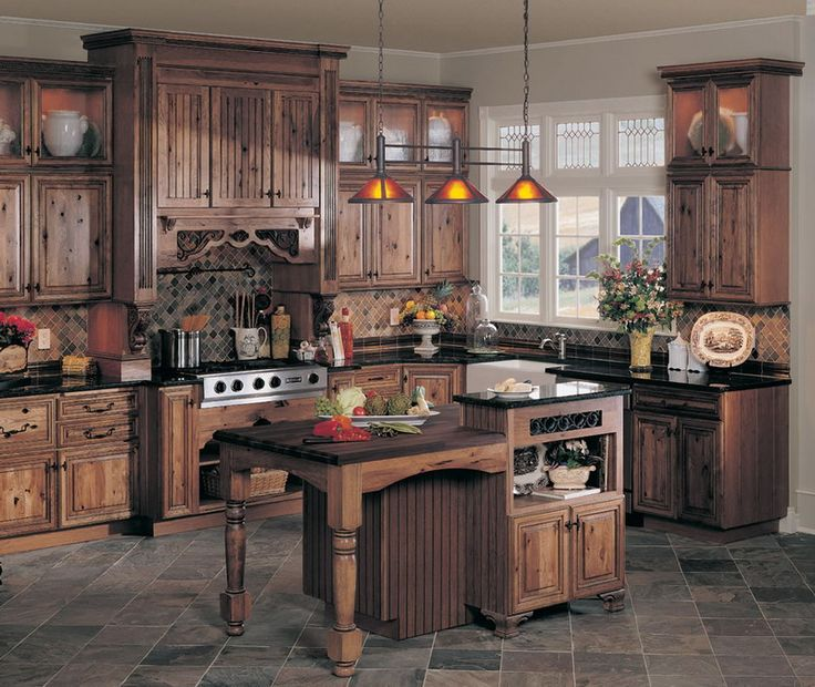 LOVE Grainy Light But Textured Wood: Elegant Country Kitchen Furniture Sets