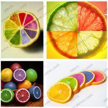 Raro del arco iris de semillas orgánicas de lemon fruit lemon tree semillas home garden plant fruit 20 unid colorido bonsai semillas lemon, se puede comer!(China (Mainland))