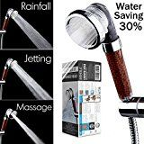 #6: Filtered Hand Held Shower Head Filtration System Help Reduces hair loss. High Pressure Rainfall Spa Water Saving Negative Ionic Ion Flow Filter Handheld Shower head. Purifies Water Remove Chlorine