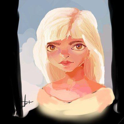 Improving my digital art #girl #blonde #draw #drawing #sky #sketch #sketchbook #animation #illustration #digital #art #digitalart #sai #paint #painttoolsai #boceto #arte #dibujos #dibujar #cielo #animado #pintar #wacom #tableta