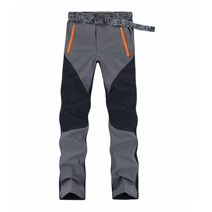 Men Hiking Camping Quick Dry Outdoor Pants GRAY