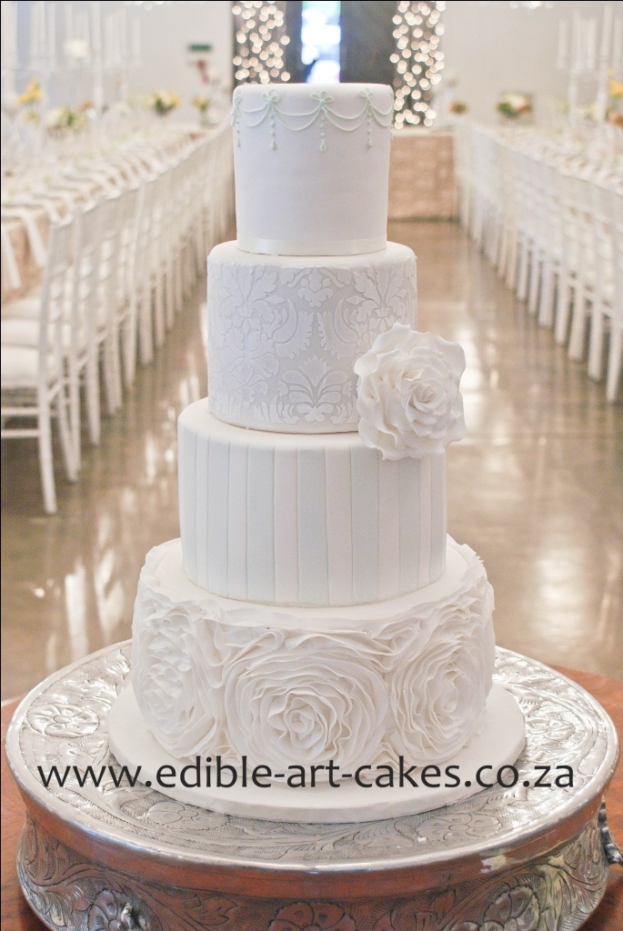 4tier Mixed Layer Cake By Edible Art Cakes South Africa Wedding Such Shared Board Pinterest And