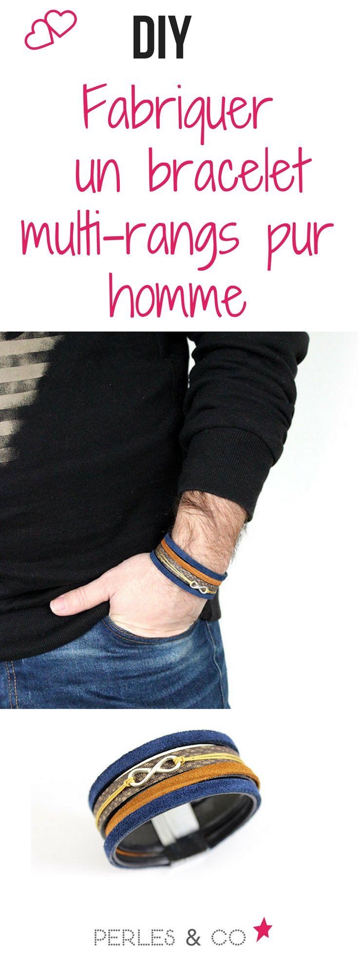 Comment réaliser un bracelet multirangs pour homme en cuir ? Idée cadeau DIY pour homme : créez ce bracelet multirangs en cuir et daim avec un intercalaire infini en argent 925 facilement en suivant ce tutoriel. Rapide et facile à réaliser, c'est le cadeau idéale que vous pourrez personnaliser pour s'adapter à n'importe quel look.