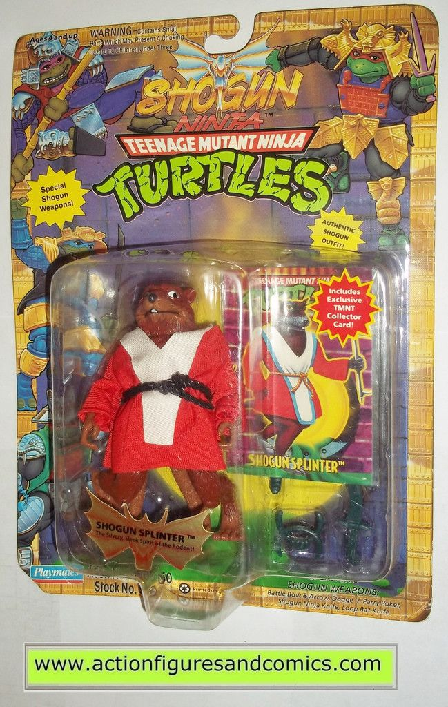 teenage mutant ninja turtles SPLINTER SHOGUN 1994 vintage playmates toys mib moc mip tmnt