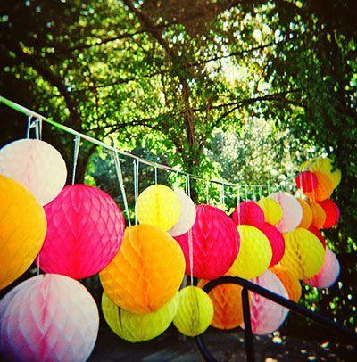honeycombs als feestdecoratie