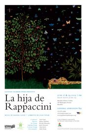 """Artist Fred Tomaselli's striking """"Garden with Separation"""" is the image for our production of """"La hija de Rappaccini"""" which was performed at Brooklyn Botanic Garden."""