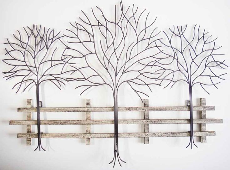 Nice Wall Art   Metal Wall Art Picture   Winter Tree Scene