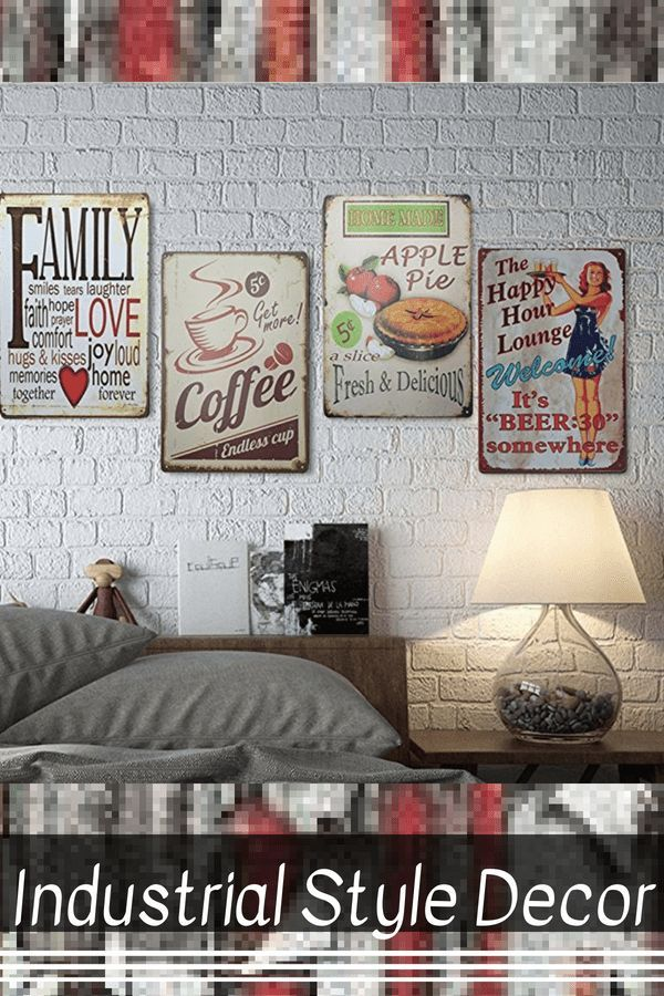 Sophisticated Warm And Rustic Industrial Wall Art Decor Vintage
