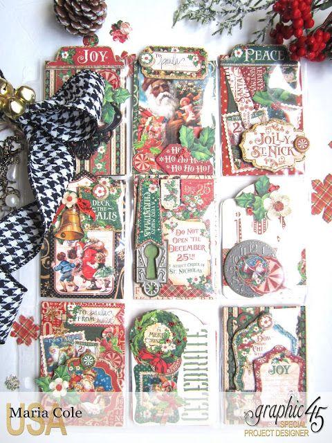 Graphic 45 St. Nicholas pocket letter by Maria Cole.