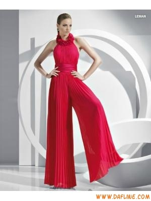 floral halter wrinkled chiffon designer evening dresses