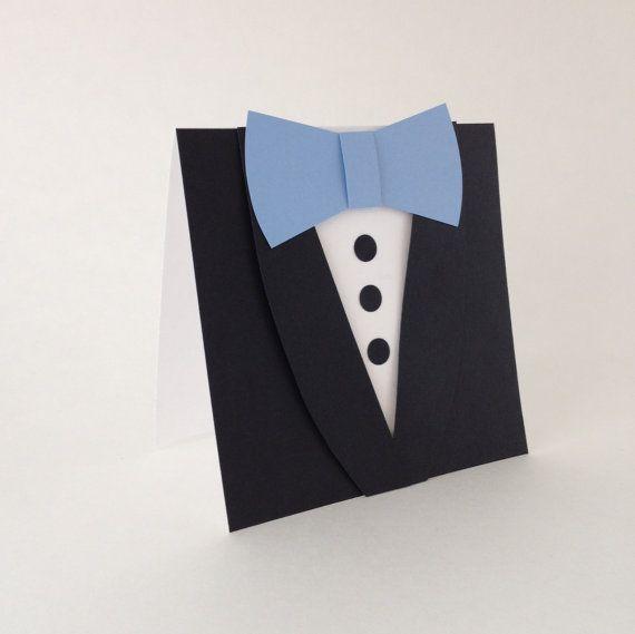 Invitation de mariage garçon d'honneur  carte noir Tuxedo