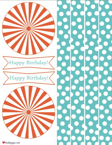 "a ""Happy Birthday"" party printable"