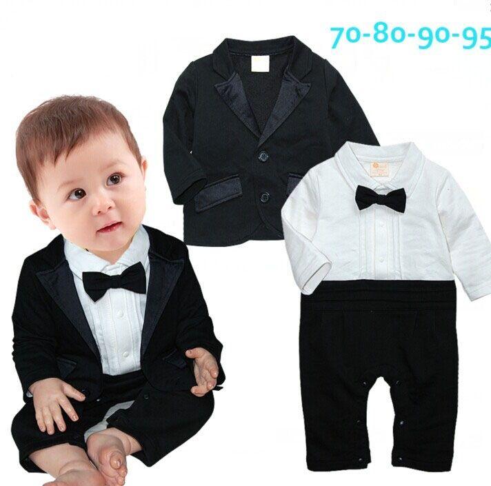 Baby clothing 2016 toddler boys clothes newborn infantil gentleman striped romper + coat clothing set vestidos bebes jumpsuit