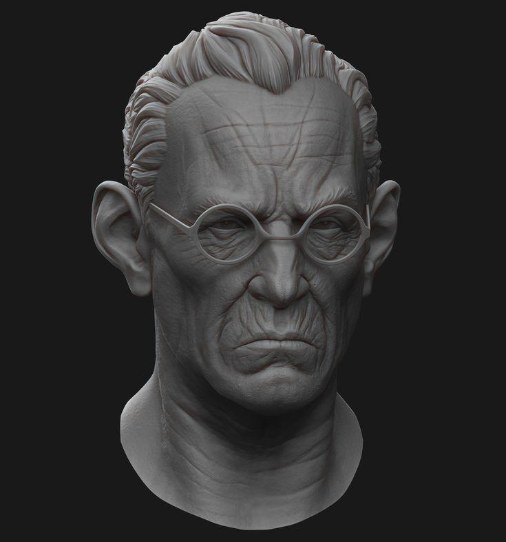 Character Head Sculpt, Billy Lord on ArtStation at https://www.artstation.com/artwork/6QlXO