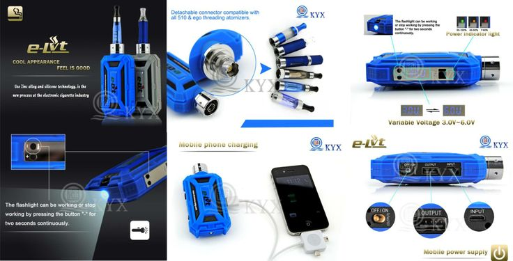 """our web:http://www.dovpoecig.com/ Smoking Fit for 510/MT3 thread atomizer. Dual output mode (Variable voltage from 3.0-6.0V. Variable power from 3w-15w.) Power bank Charge for digital products by USB cable connections  Linghting Press the button """"-"""" 3 seconds to turn on /off the light"""