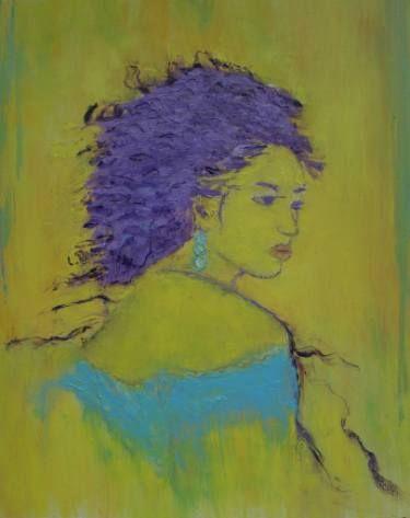 "Saatchi Art Artist Crina Iancau; Painting, ""Woman In Blue"" #art"