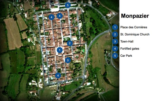 Map of Monpazier