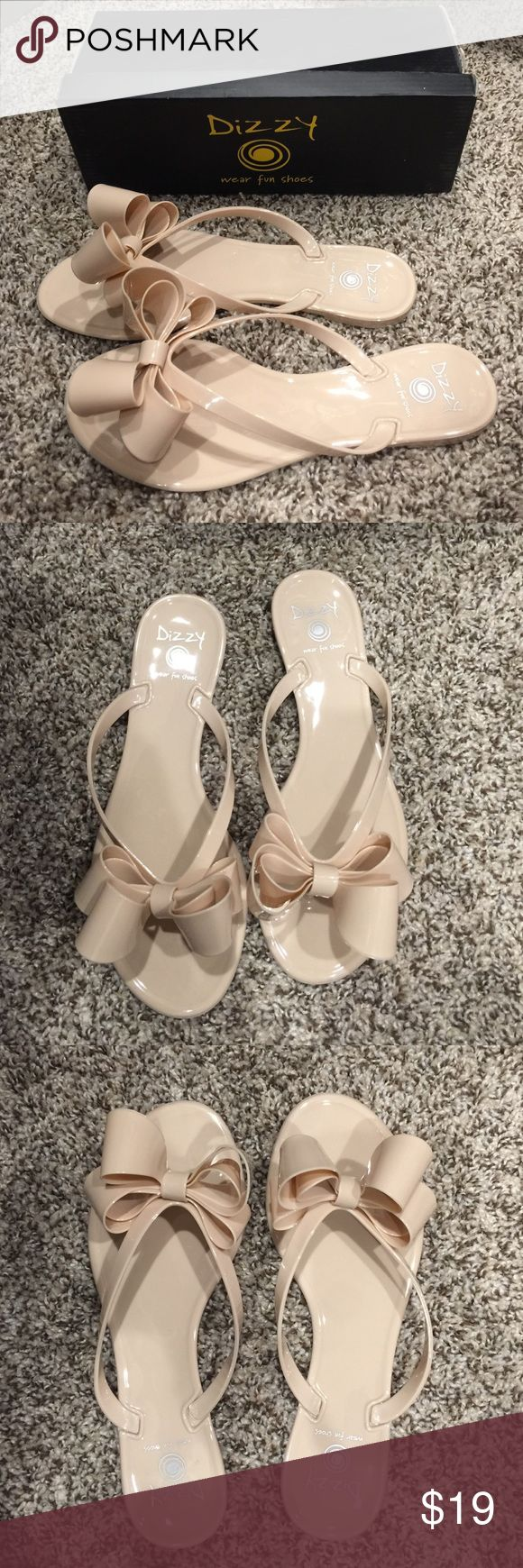 Beige/cream jelly flip flops Brand new in box! dizzy Shoes Sandals