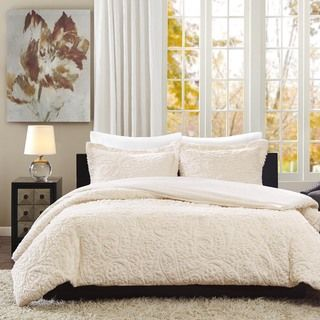 Madison Park Albany Ultra Plush Ivory 3-piece Comforter Set | Overstock.com Shopping - The Best Deals on Comforter Sets
