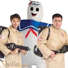 Mens Ghostbusters Fancy Dress Costume Adult Halloween 80s Retro Film Outfit