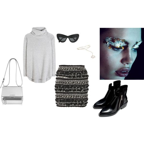 """Grey- transitioning to autumn"" by ralucadu on Polyvore"