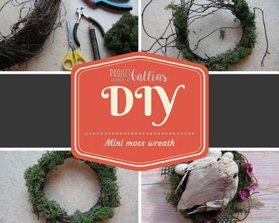 ProjectGallias: #projectgallias DIY: mini moss wreath, Easter decoration: nest with bird and eggs; Kurs jak zrobić mini wianuszek z mchem. Wianuszek Wielkanoc