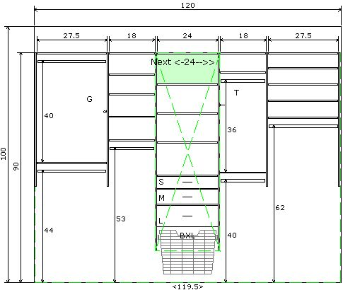ClosetCAD Closet Design Sofware Closet rod height