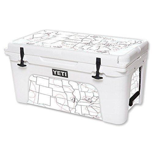 MightySkins Protective Vinyl Skin Decal for YETI Tundra 65 qt Cooler wrap cover sticker skins Traveler -- Visit the image link more details.(This is an Amazon affiliate link and I receive a commission for the sales)