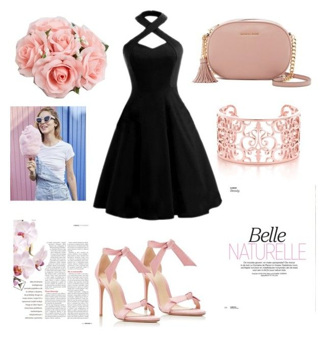 """""""black&pink"""" by blackwendy ❤ liked on Polyvore featuring Alexandre Birman, MICHAEL Michael Kors and ASOS"""