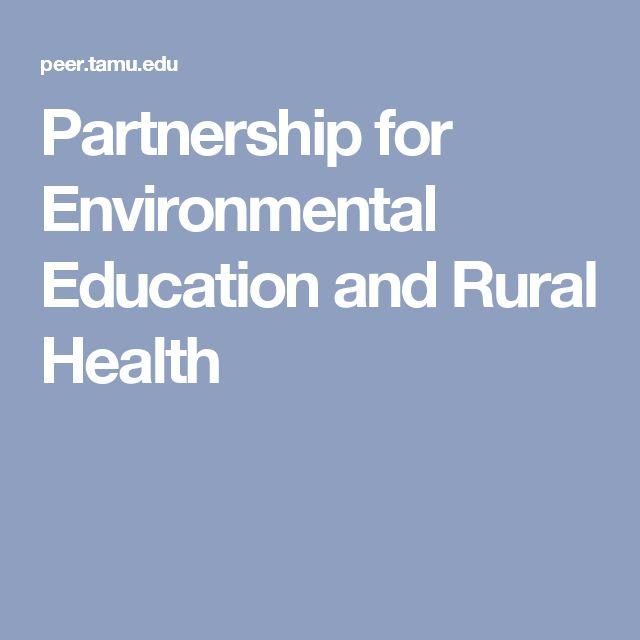 Partnership for Environmental Education and Rural Health