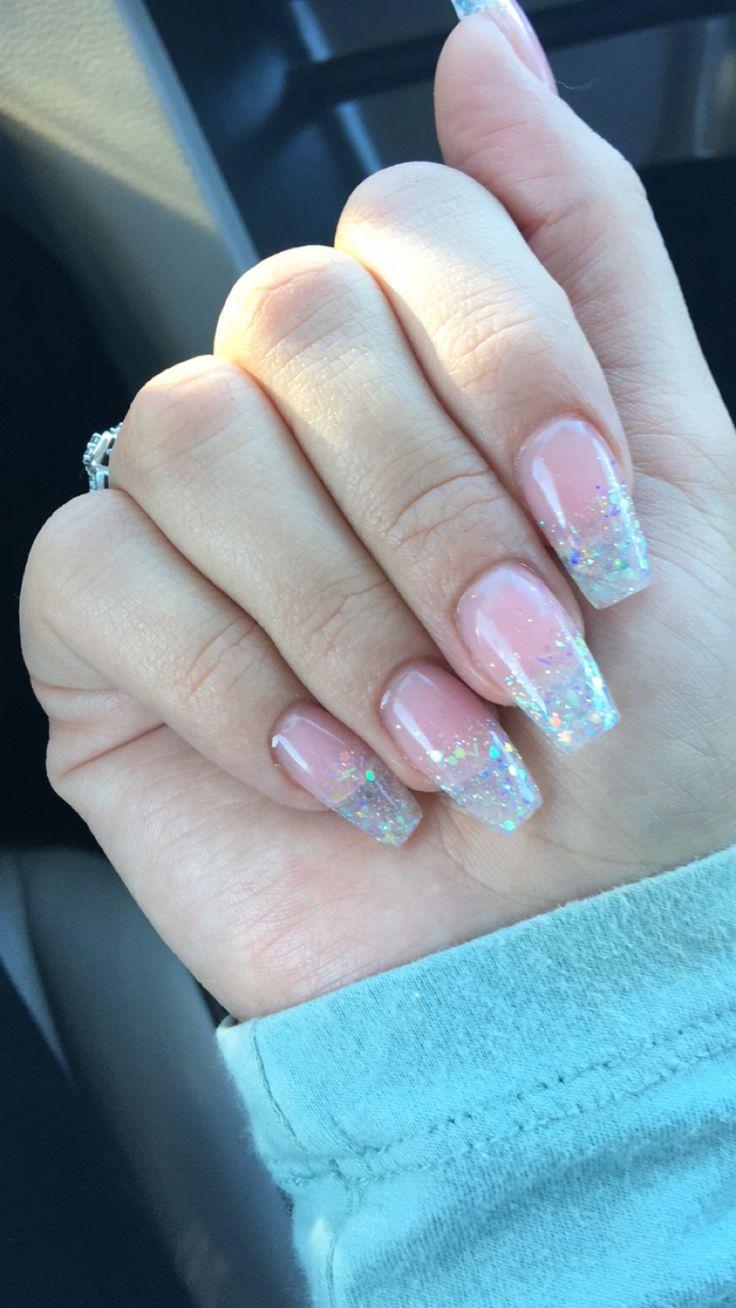 Clear Glitter Nails, Glitter Nails