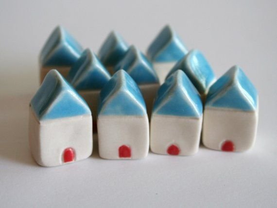 WEDDING FAVOR  Fifty Miniature Homes CUSTOM by thelittlereddoor